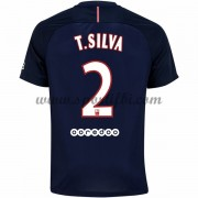 Maillot De Foot Paris Saint Germain Psg 2016-17 T. Silva 2 Maillot Domicile..