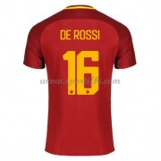 Maillot De Foot AS Roma 2017-18 De Rossi 16 Maillot Domicile..