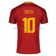 Maillot De Foot AS Roma 2017-18 Totti 10 Maillot Domicile..