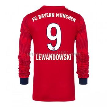 Maillot de foot Bayern Munich 2018-19 Robert Lewandowski 9 maillot domicile manche longue