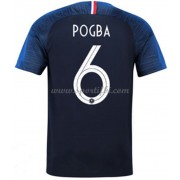 Maillot De Foot France 2018 Équipe Nationale Paul Pogba 6 Maillot Domicile..