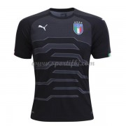 Maillot De Foot Italie 2018 Équipe Nationale Gardien De But Manches Courtes Noir Football Maillot..