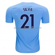Maillot De Foot Manchester City 2017-18 David Silva 21 Maillot Domicile..