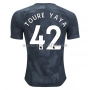 Maillot De Foot Manchester City 2017-18 Toure Yaya 42 Maillot Third..