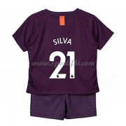 Manchester City enfant 2018-19 David Silva 21 maillot third..