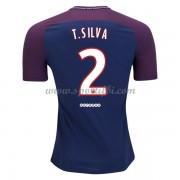 Maillot De Foot Paris Saint Germain Psg 2017-18 Thiago Silva 2 Maillot Domicile..