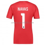 Maillot De Foot Real Madrid 2017-18 Navas 1 Gardien De But  Maillot Extérieur..