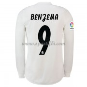 Maillot de foot Real Madrid 2018-19 Karim Benzema 9 maillot domicile manche longue..