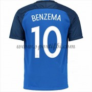 Maillot De Foot France Coupe d'europe 2016 Karim Benzema 10 Maillot Domicile..