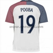 Maillot De Foot France Coupe d'europe 2016 Paul Pogba 19 Maillot Extérieur..