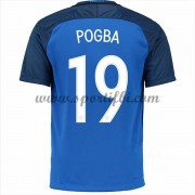 Maillot De Foot France Coupe d'europe 2016 Paul Pogba 19 Maillot Domicile..