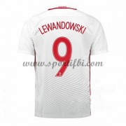 Maillot De Foot Pologne Coupe d'europe 2016 Robert Lewandowski 9 Maillot Domicile..